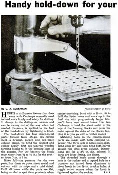 #3153 DIY Drill Press Hold Down - Drill Press