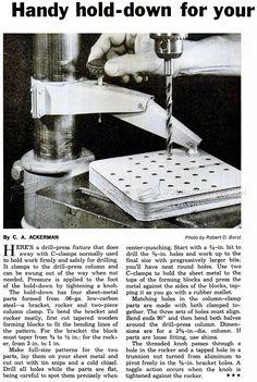 #3153 DIY Drill Press Hold Down - Drill Press