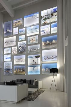 Design Detail – A Wall Of Illuminated Backlit Photos