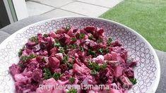 Vandaag gegeten, heerlijk! Supersimpele bietensalade