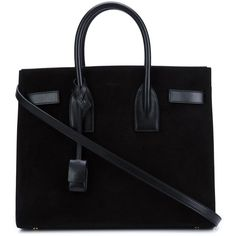 Saint Laurent Small 'Sac De Jour' Tote (€2.725) ❤ liked on Polyvore featuring bags, handbags, tote bags, ysl, black, genuine leather purse, handbags totes, leather handbag tote, leather tote handbags and leather purses