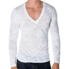 Long Sleeve SKINNY Core Tee by Andrew Christian in White
