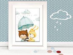 """Kinderbild """"Freunde"""" Kinderzimmer Kind Bild von Pipapier auf DaWanda.com"""