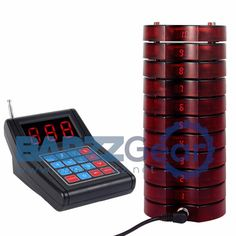 Restaurant Pager Call System 1 Transmitter + 10 Coaster Pagers Chargeable Wireless Equipments  #barzznet #weekend #nightlife #barrescue #mancave #wine #beer #cocktail #salboken #barzz @barzz