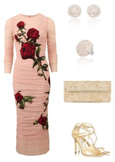 """""""Dolce Dolce"""" by dearmissj ❤ liked on Polyvore featuring Dolce&Gabbana, Jimmy Choo and Valentino"""
