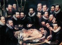 Pieter van Miereveld (1596-1623) - The Anatomy Lesson of Doctor Willem van der Meer in Delft. Enlarge: http://www.pinterest.com/pin/287386019946408057/