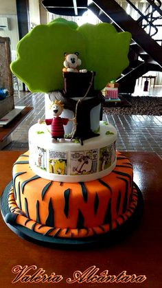 Calvin and Hobbes Cake - Bolo Calvin e Haroldo