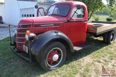 Truck was mfg. in Chicago by The International Harvester Co. in 1938. The original VIN plate remains under the hood showing a Model No. D30-232 155 and Chassis No. D30-39246. It runs and drives however it does need the water pump replaced. I have additional pictures. including some taken prior to the restoration. Truck is available for inspection in Indiana.