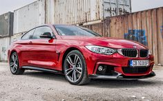 Scarica sfondi BMW 4-Series Coupe M Performance Red Edition, F32, tuning, sportcars, rosso m4, BMW