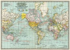 World Map 3 Wrapping/Decoupage Paper, €3,50