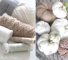seidenfeins Blog vom schönen Landleben: Kürbis DIY No.2 * homemade pumpkins Throw Pillows, Homemade, Pumpkins, Cottage, Decor, Small Pumpkins, Country Living, Handarbeit, Dekoration