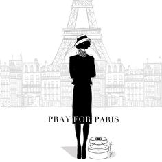 """""""Stay strong Paris! The rest of the world is with you! #PrayforParis"""""""