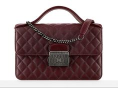 Chanel Just Released a Giant Pre-Collection Fall 2016 Lookbook Chanel Goatskin Top Handle Flap Bag $2,900
