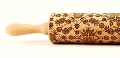 Polish folk pattern - Cassubia (Kaszëbë) region of northwestern Poland. Embossing Rolling pin, engraved rolling pin