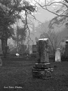 Gravestone Art Black and White Photography by SuePetriPhotos, $30.00