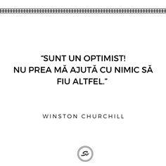 """""""Sunt un optimist! Nu prea ma ajută cu nimic să fiu altfel."""" - Winston Churchill #optimist #winstonchurchill Winston Churchill, Optimism, Student, Photo And Video, Videos, Instagram"""