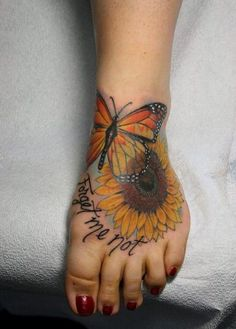 Sunflower tattoo and designs. Check out these absolutely BEAUTIFUL tattoos.