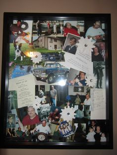Dad memorial shadow box