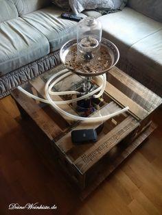 Couchtisch Aus Vier Weinkisten (mit Anti Holzwurm Wärmebehandlung) Mit  Wasserpfeife