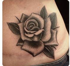 dotwork rose
