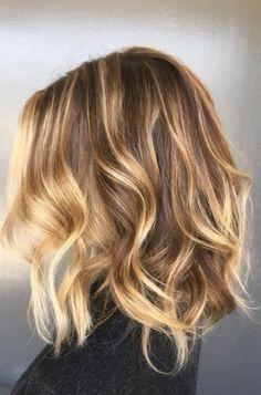 Image result for blonde highlights on dark brown hair