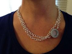 double up your over the heart chain from Origami Owl. To double up, use the link locket, which is medium size.