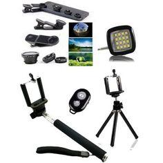 Combo of 1 Selfi Stick + Mini Tri Pod + Flash Light +  3 In 1 Lens Price: PKR 1275 | Pakistan