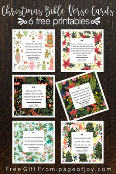 6 free Bible verse christmas printable cards! Help to keep your heart focused on the true meaning of Christmas. Jesus is the reason for the season! These also make an easy and inexpensive DIY gift idea (mom, grandma, kids, daughter, teacher, pastors wife, hostess gift)! My gift to you this Christmas.