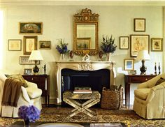 In December I featured an elegant and timeless Dallas home designed in the early by Josie McCarthy and dressed in its holiday finery. Instantly, I fell in love with Josie's classic styl… Interesting Buildings, Design Blog, Design Ideas, Elegant Homes, Living Spaces, Living Rooms, Family Rooms, Hanging Art, Interiores Design