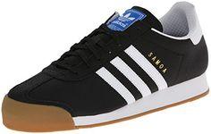 watch 8f36c 070f9 adidas Originals Men s Samoa Retro Sneaker,Black White Gold,10.5 M US