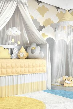 Cloud Collection Circu Magical Furniture - Luxury brand for children Baby Nursery Decor, Baby Bedroom, Baby Boy Rooms, Baby Boy Nurseries, Baby Decor, Girls Bedroom, Baby Cot Bumper, Baby Shower Niño, Baby Room Design