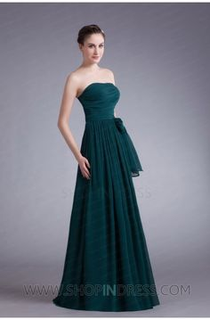A-line Strapless Floor Length Chiffon Dark Navy Evening Dress with Cascading-Ruffle TSKN889  IN LOVE WITH THIS ONE.  $99