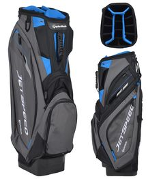 See more detail about TaylorMade JetSpeed Cart Bag Cart Bag. 3 Balls, Golf Fashion, Taylormade, Golf Bags, Golf Clubs, Cart, Detail, Sports, Bespoke