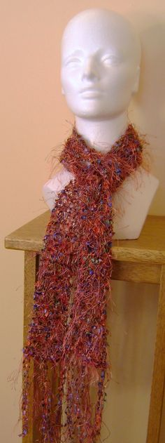Copper and gems scarf by AJoyfulCreation on Etsy, $40.00