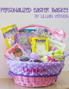 Personalized Easter Baskets by Lillian Vernon #easter