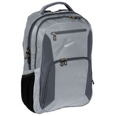 Nike Golf Elite Backpack - Wolf Grey/Dark Grey - A premium backpack designed to perform. Padded laptop and tablet sleeves keep tech well-protected, while the contrast welded Swoosh design trademark adds distinction. Small School Bags, School Bags For Girls, Computer Backpack, Computer Bags, Waterproof Laptop Backpack, Laptop Bag, Backpack Bags, Fashion Backpack, Travel Backpack