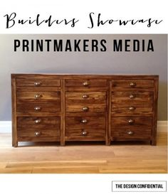 Printmakers Media Cabinet plans from The Design Confidential Diy File Cabinet, Cabinet Plans, Media Cabinet, Woodworking Plans, Woodworking Projects, Diy Furniture Plans, Building Furniture, Wood Furniture, Set Of Drawers