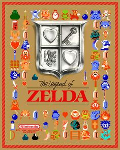 """This box art poster is an impressive 24x30"""" and has various sprites from The Legend of Zelda :-) This was a fun poster to make!"""