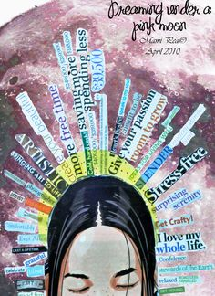 Dream / vision board for the grade or the Gymnasium? – Art Education Dream / vision board for the grade or the Gymnasium? Dream / vision board for the grade or the Gymnasium? Kunstjournal Inspiration, Art Journal Inspiration, Vision Journal Ideas, Art Thérapeute, Pink Moon, Photocollage, Expressive Art, Art Gallery Fabrics, Gcse Art