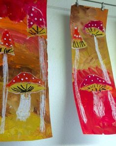 ondecole.ch - Amanite tue-mouche! Art Club Projects, Fall Projects, Autumn Crafts, Autumn Art, Diy And Crafts, Arts And Crafts, Mushroom Art, Kindergarten Art, Art Programs