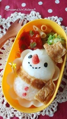 snowman bento    #lunch #bento #food