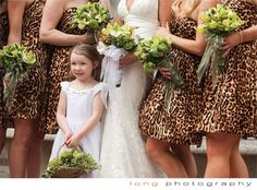Leopard Bridesmaids #leopardwedding