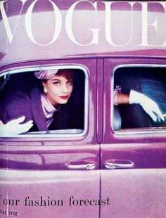 1957 Vogue cover color looks suspiciously similar to Pantone's color of the year for 2014...