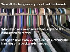 Best home organization tips include simple and low-cost ideas for organizing home with ease. Home organization tips for a better functioning household. Organisation Hacks, Closet Organization, Organizing Ideas, Clothing Organization, Wardrobe Organisation, Decluttering Ideas, Clothes Storage, Kitchen Organization, Cleaning Closet