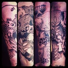 Moomin tattoo Sleeve part 1 Danielle Reeves