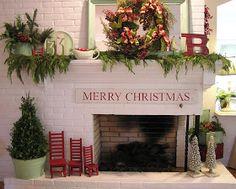 Adorabile decorazioni in rosso e verde menta ❤️ con graziose seggiolone per piccoli gnomi! Chippy, minty green/red Christmas mantel