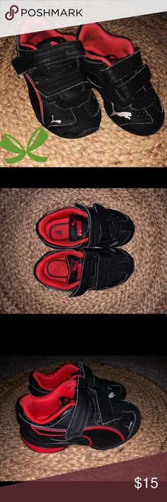6acfb4bb69ac Black   red infant toddler Puma shoes