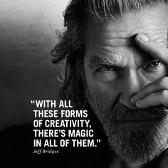 Jeff admires creativity in a lot of facets! What do you think? #followyournature #marcopolo #campaignss15 #jeffbridges