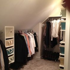 Slanted Wall Closet Design Ideas, Pictures, Remodel, and Decor