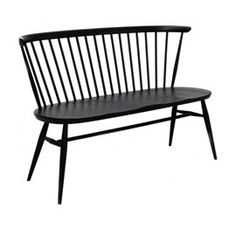 Ercol Originals Loveseat - 518559 - Ercol Loveseat Black Stain